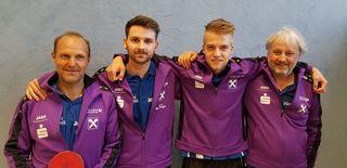 Aufsteiger in die Regionalliga (von links): Egon Kagerer, David Buchberger, Christoph Kartusch und Gerhard Geyregger.