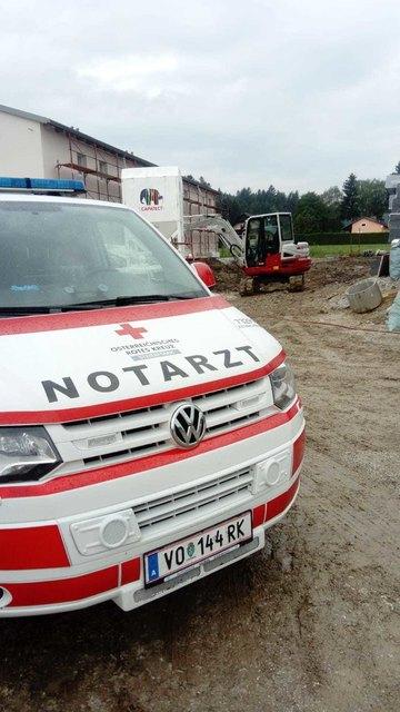 Der Notarzt musste auf eine Baustelle nach Krottendorf-Gaisfeld.