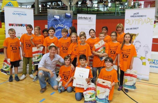 Die Sieger der heurigen Kindersicherheitsolympiade kommen von der VS Kirchbichl.