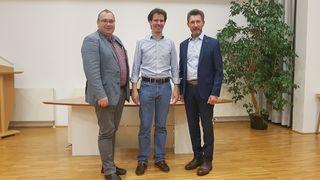 Von links: Bürgermeister Herbert Brandstötter, Philip Christl, Gerald Koller.