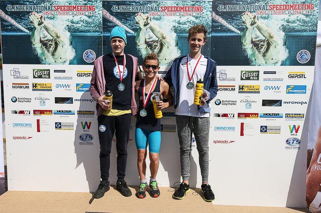 Lukas Edl (Mitte) erreichte drei Siege.