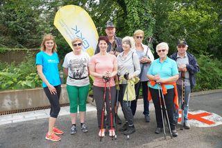 Viele Teilnehmer/innen trotzten dem Wetter und nahmen an den kostenlosen Kursen teil