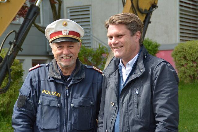 Stadtpolizei-Chef Hartig Bamberger, hier mit VizeBgm Hannes Rauch, muss eine neuralgische Verkehrsachse sperren lassen.