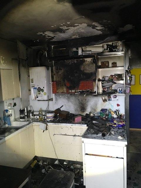Totalschaden: So sah die Küche nach dem Brand aus.
