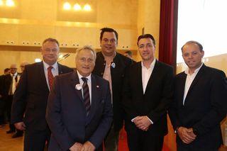 LAbg. Christian Cramer, FA-BO Stv. AK-Rat René Dretnik, NAbg. Josef Riemer, FA-BO AK-Vorstand Gerhard Knoll und Vizebgm. Manfred Repolust.