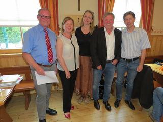 Bezirksvorsteher-Stv. Ilse Fitzbauer gratuliert dem Projektteam von COP zu 20 Jahre Projekterfolg.