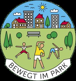 "Logo ""Bewegt im Park"""