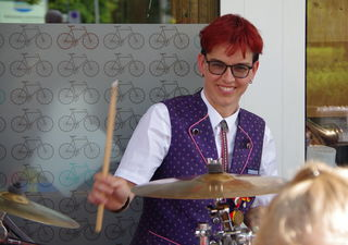 Astrid die fesche und symphatische Schlagzeugerin des MV Podersdorf