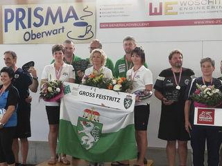 Das Mixed-Team des ESV Großfeistritz war eine Klasse für sich und jubelte über den Staatsmeistertitel der Stockschützen.