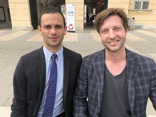 Partnerschaft: Alexander Friehs (rechts) holt sich für sein Food Festival Verstärkung von Aram Haus (links) von der Wiener Achse.