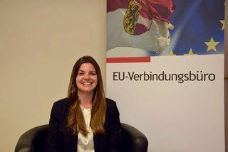 Die Pinzgauerin Katharina Jung absolviert ein Volontariat im Verbindungsbüro des Landes Salzburg zur EU in Brüssel.