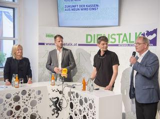 Verena Nussbaum, Moderator Michael Fleischhacker, Ernest G. Pichlbauer, Detlev Eisel-Eiselsberg