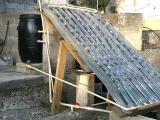 Solaranlage aus Recycling Materialien - verschenke Kunststoff und Stahl Tonnen an Solar Testimonials