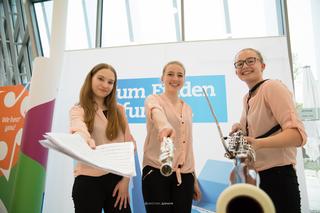 """""""Let´s wood it"""", Medeea Iftimie,  Lydia Küllinger und Clara Hinterholzer, Landesmusikschule Perg,  - 1. Preis Bundesbewerb Prima la Musica 2018 in Innsbruck."""