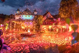 Showmaster Florian Silbereisen feierte mit zahlreichen Gästen auf Schloss Kaps.