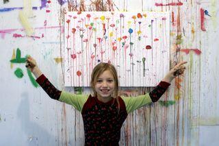 Fini Urban, 8 Jahre, besucht die Malakademie KIDS Neunkirchen