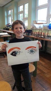 Simon Haslinger, 8 Jahre, besucht die Malakademie KIDS in Hollabrunn