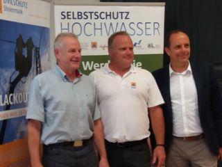 GR Werner Schenk, Vortragender Zivilschutzverband Stmk. Günter Macher und Bgm. Christoph Stark