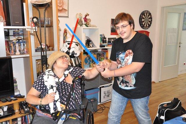 Nur daheim geht es dem Star-Wars Fan halbwegs gut