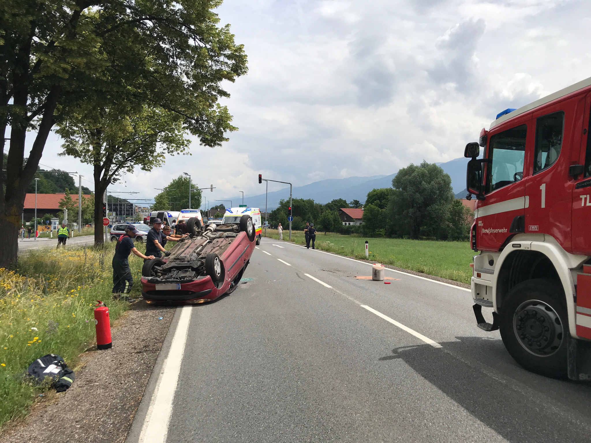 Unfall Steilshooper Allee