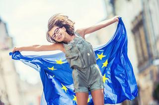 Wir suchen die EU-Fahne in den Steirischen Bezirken.