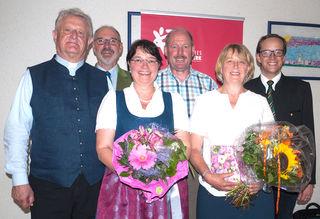 GR Mag. Johann Kurz, Andreas Gutenthaler, Andrea Mayr, ÖkR Josef Ritzer, Marianne Werlberger, MMag. Andreas Weiß (Regionalbegleiter Katholisches Bildungswerk Salzburg) (v.l.n.r.)