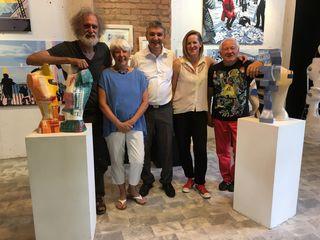 Im Atelier in St. Michael (von links): Norbert Art-Uro, Brigitte Dittrich, Walter Temmel, Doris Dittrich und Gerhard Marx.