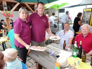 Cindy Redl und Jürgen Thorschütz beim Hoffest