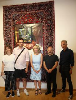 Elisabeth Schmirl, Stefan Heizinger, Vzbgm. Helga Sams, Kurator Klaus-Dieter Hartl, Günther Holler-Schuster