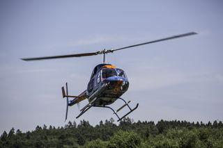 Hubschrauber in der Luft