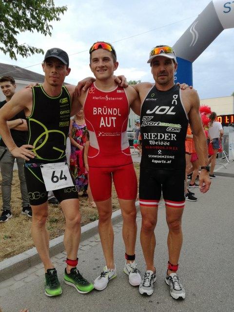 Die Sieger in Wels: B. Goll, A. Bründl, G. Will.
