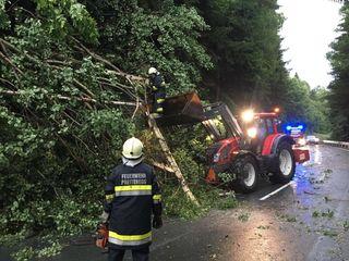 Auch in Preitenegg auf der Pack waren mehrere Straßen gesperrt.