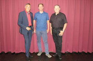 Bürgermeister Ludwig Deltl, Klaus Eckel, Vizebürgermeister Walter Vock