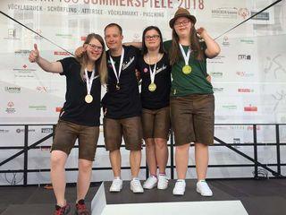 Ertanzten sich bei den Special Olympics eine Medaille: Gruppe Tanzdynamik-Integrativer Tanz