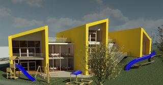 So könnte in Schwoich ab 2020 der Kindergarten aussehen.