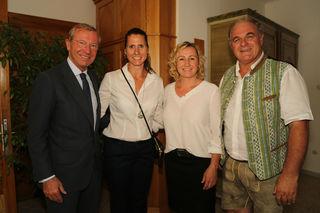 Wilfried Haslauer, Brigitte Kliment-Obermoser, Renate Götschl und Bartl Gensbichler