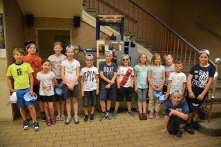 Schülerinnen und Schüler der VS Fels im Kraftwerk Ottenstein.