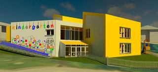 Eine Visualisierung von Schwoichs künftigem Kindergarten.