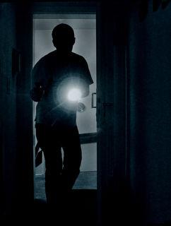 Der unbekannte Täter brach einen Nebentür auf und gelangte so ins Gasthaus.
