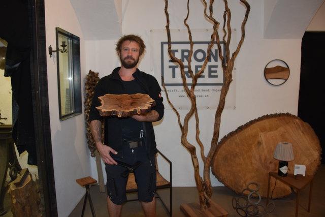Stephan Miedaners Leidenschaft ist die Verbindung von Metall und Holz.