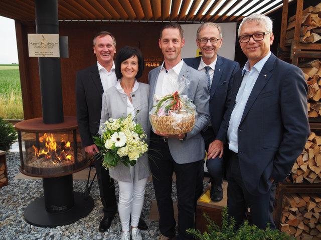 Peter Pfob, Alexandra und Michael Karlhuber, Hannes Breitwieser und Franz Stockinger.