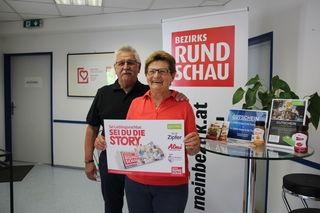 Maria Diesenberger freute sich mit ihrem Mann Walter über den Gewinn.