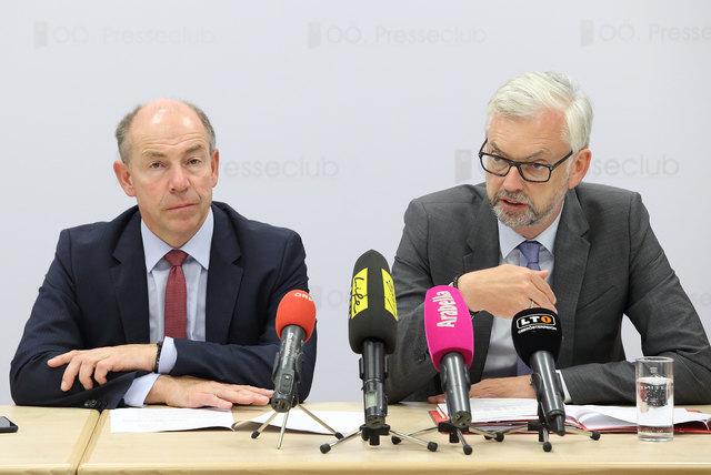 Die Landesräte Max Hiegelsberger (l.) und Michael Strugl.