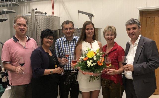 In Jubiläumsstimmung: Werner Laky, Marianne Hackl, Ernst Gassler, Margot Pölz, Ilse Gassler und Walter Temmel.