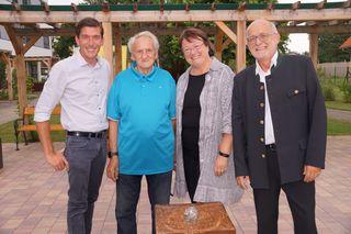 V.l.: Bgm. P. Stradner, F. Trampusch, B. Gross und D. Schmidt.