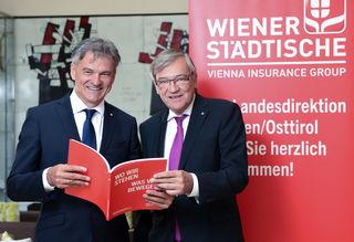 Landesdirektor Erich Obertautsch und Generaldirektor Robert Lasshofer