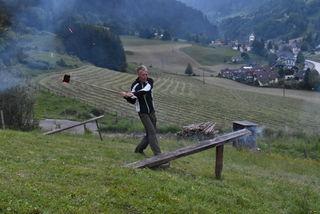 Siegi Aigner beim Abschlag.