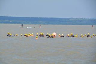 Etwa 120 Teilnehmer schwammen durch den See.