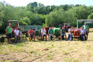"""Der Bauernbund """"sattelte"""" seine Traktore für die Hotterfahrt."""