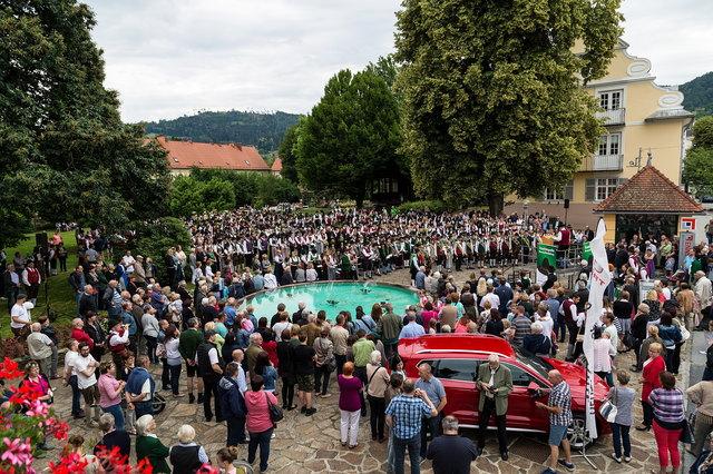 Die 600 Musikerinnen und Musiker hüllten die Stadt Deutschlandberg beim Bezirksmusikerfest in eine einmalige Klangwolke.